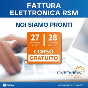 corso fattura elettronica RSM